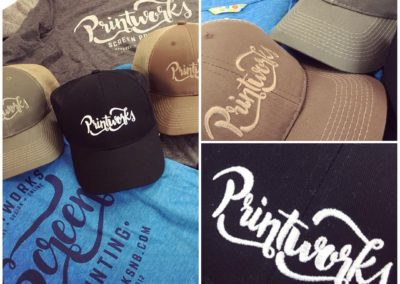 Add some embroidered hats to your t-shirt order to complement your brand.