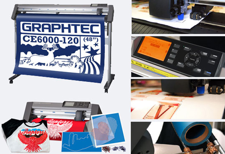 Our new vinyl cutter - the Graphtec CE-6000.