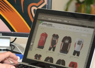 We offer many options from single page brochure-style websites to eCommerce sites to sell your branded apparel line.